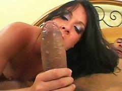 Teen cock muncher Julie Knight loves to suck big hard cocks