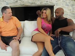 Kristal Summers' dude watches her fucked by black cock