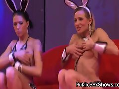 Two strippers love playing with dildos