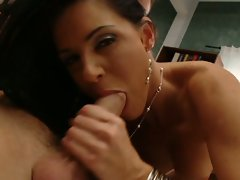 India Summers brings the heat and shows off her cock sucking talent