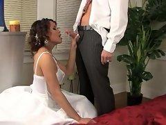Hot slut Renae Cruz gets a twat plundering on her wedding day