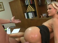 Jasmine Jolie warms up a cock with her pussy before it gets cum covered