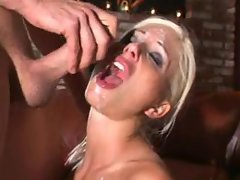Puma Swede gets covered in spunk after she gets her ass gaped