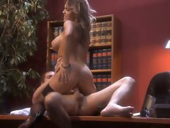 Whether its a bed or a desk Jenna Presley is ready to fuck on any surface