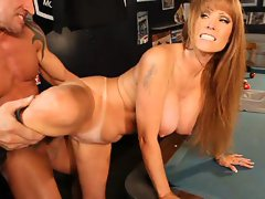 Hot bitch Darla Crane gets a cock slamming over the pool table
