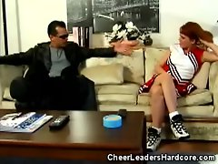 Redhead Cheerleader Fingered And Pussy Licked