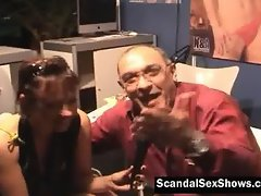 Sexy stripper slut pleases some dude
