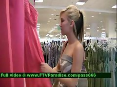 Alexa gorgeous blone girl in a clothes shop