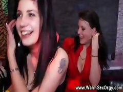 Horny girls at stripclub go crazy