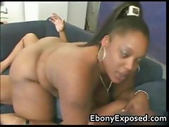 Black girlfriend with giant tits slammed part2