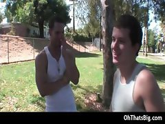 Dude gets hurt swallowing some big fat part3