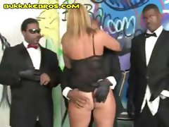 Melanie is a a young blonde hottie who loves to get gang banged by black men