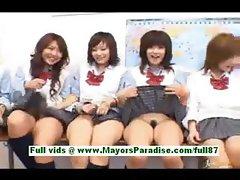 Horny asian schoolgirls at school