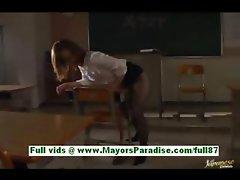 Nagomi momono horny asian teacher at school is filmed