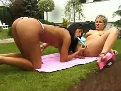 Backyard lesbians love their toys