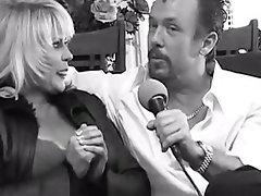 Mature blonde porn legend Ginger Lynn gets an anal creampie
