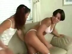 Girs having some ass spanking fun