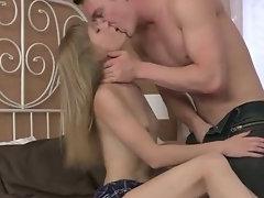 Blonde Teen Sucks Boyfriends Cock