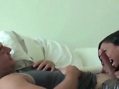Latina wakes and fucks lucky guy
