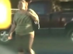 Fat hooker picks up a guy on the streets