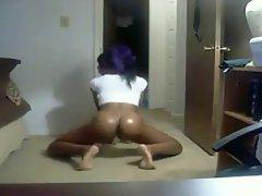 Black Teen Shakes &amp, Slaps Dat Sexy Oily Ass! - Ameman
