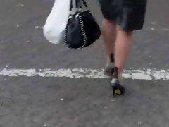 tight skirt seamed nylons