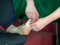 Tickling bondage foot