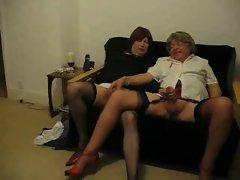 Barbara and Celia having fun