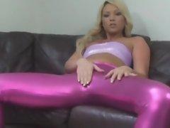 Pink Legging Tease