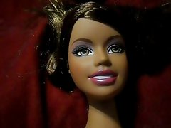 Sexy Black Barbie Doll Takes a Huge Facial Cumshot