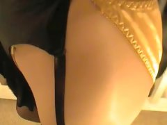 Gold Satin Panties