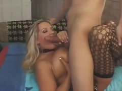 Hugetitted MILF Rachel Love banging in fishnets and heels
