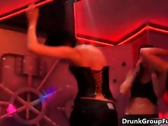 Horny party babes going crazy