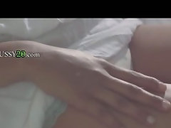 brunett fingering her sleepy vagina