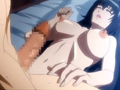 Busty hentai gets tittyfucked and creampie