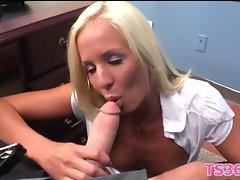 Teacher drills schoolgirl