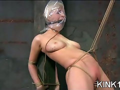 Babe Locked into a Mask