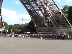 Eiffel Tower PUBLIC threesome sex in Paris by the most famous landmark in the world AWESOME
