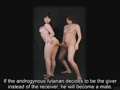 Bizarre Japanese futanari subtitled instructional clip
