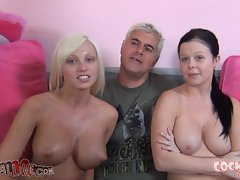 Rikki Six & Loni Evans Suck Off Two Lucky Dudes!