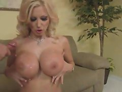 Big titted milf slut Brittany Andrews gives Sexy dick an education