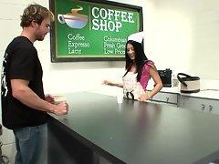 Waitress Kira Kroft loves to please her customers