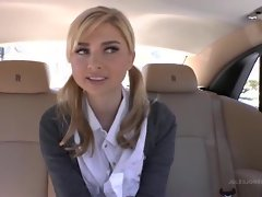 Sweet blonde teen Molly Bennett gets an in car fuck