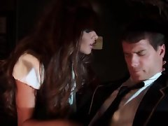 Jet hot screwing in air by naughty pilot and sexy stewardess Madelyn Marie