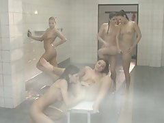 Claudia Rossi gives in to her Sapphic side as she showers with Lena Cova
