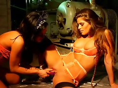 Madelyn Marie is tied up and toyed by Alyssa Reece