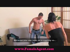 FemaleAgent. Shy hunk is devoured