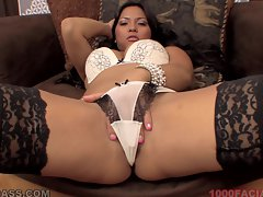 Adriana Luna is left coated in creamy spunk