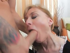 Nina Hartley is the old chick that can eat cock better than anyone