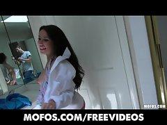 Cute Latina GF Lola Foxx bounces her ass on BF's cock